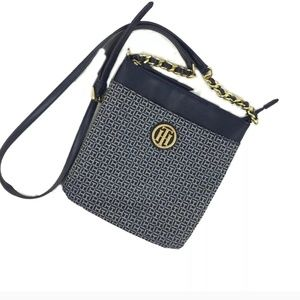 Tommy Hilfiger Monogram Crossbody Purse Blue